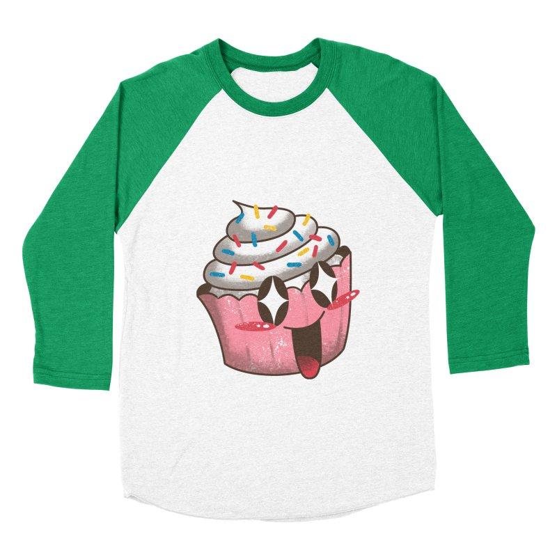Kawaii Cupcake Men's Baseball Triblend T-Shirt by vincenttrinidad's Artist Shop