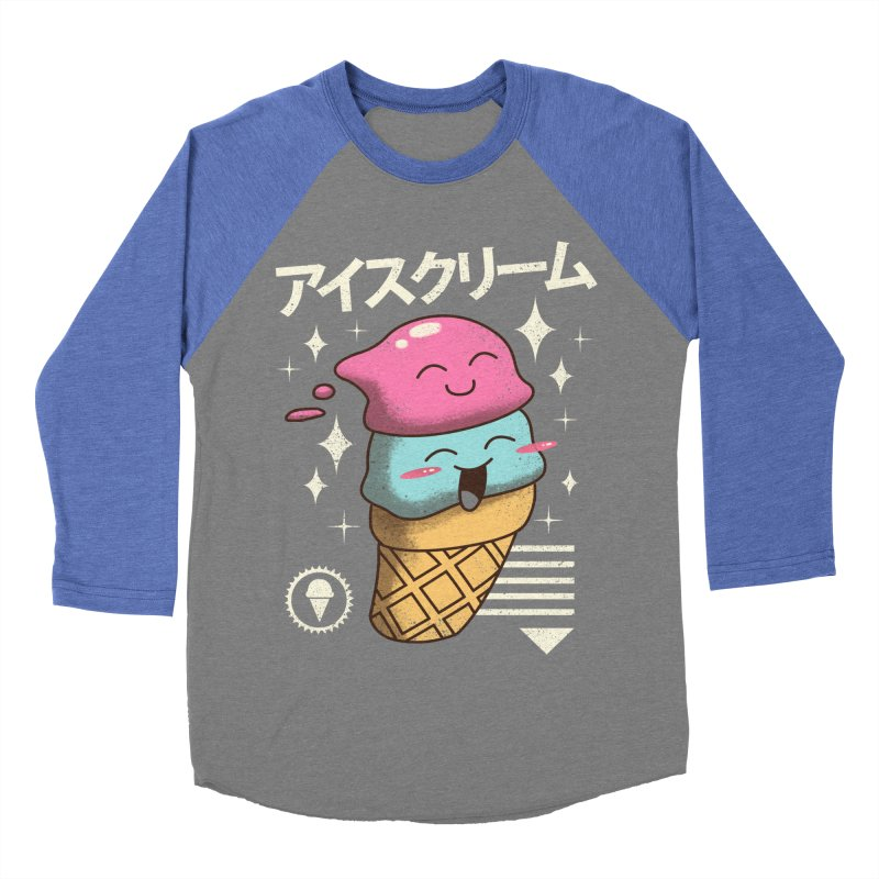 Kawaii Ice Cream Men's Baseball Triblend T-Shirt by vincenttrinidad's Artist Shop