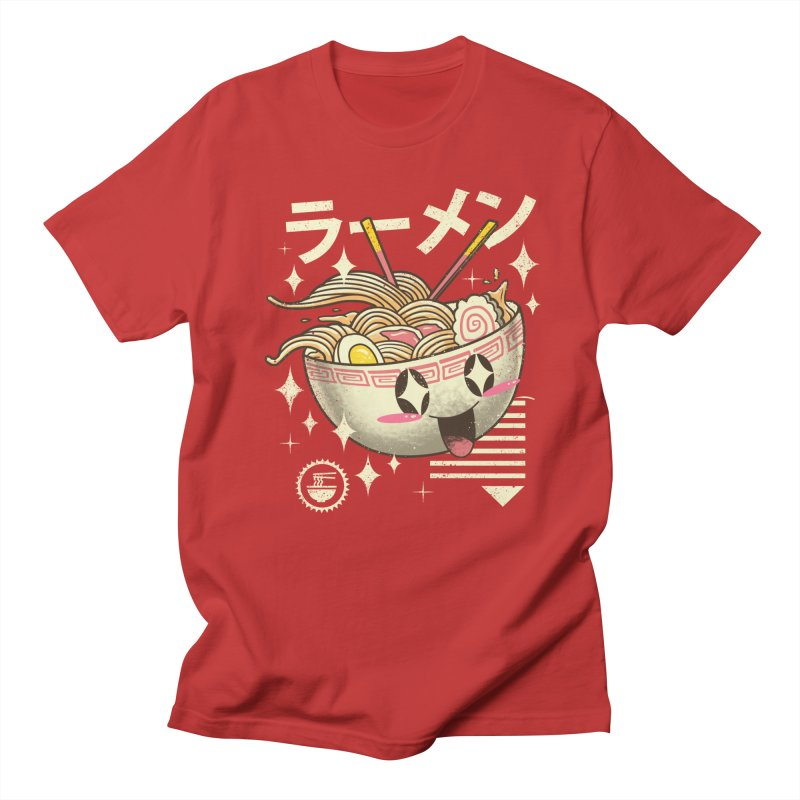 Kawaii Ramen in Men's Regular T-Shirt Red by vincenttrinidad's Artist Shop
