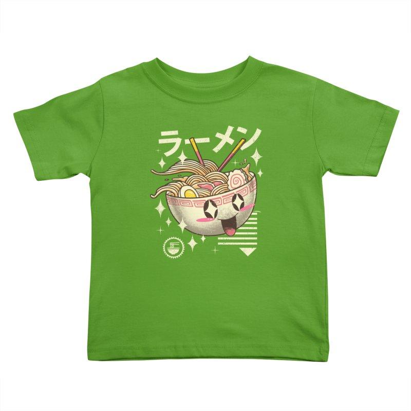 Kawaii Ramen Kids Toddler T-Shirt by Vincent Trinidad Art