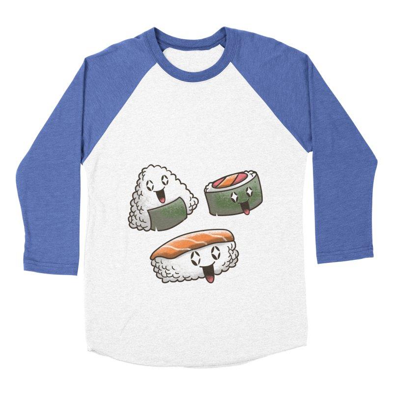 Kawaii Sushi Men's Baseball Triblend T-Shirt by vincenttrinidad's Artist Shop
