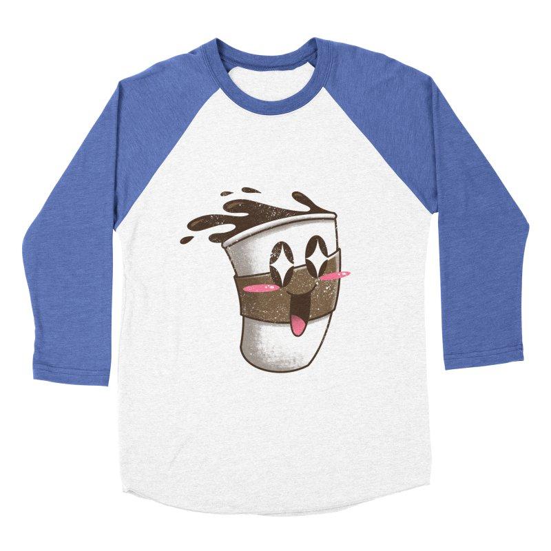 Kawaii Coffee Men's Baseball Triblend T-Shirt by vincenttrinidad's Artist Shop