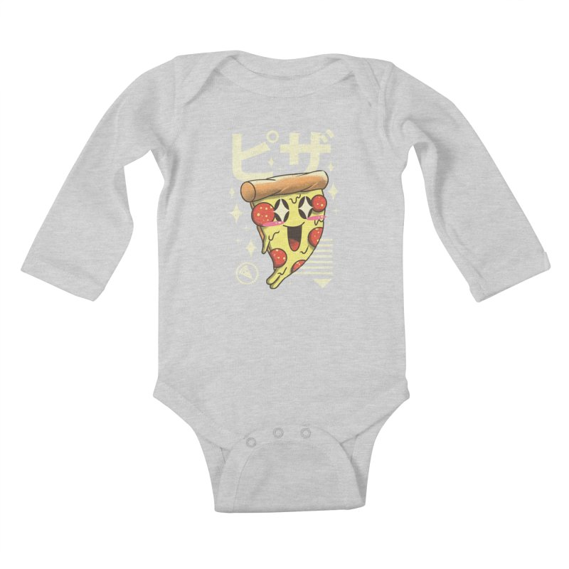 Kawaii Pizza Kids Baby Longsleeve Bodysuit by vincenttrinidad's Artist Shop