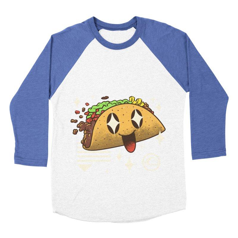Kawaii Taco Men's Baseball Triblend T-Shirt by vincenttrinidad's Artist Shop