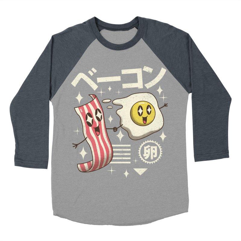 Kawaii Breakfast Men's Baseball Triblend T-Shirt by vincenttrinidad's Artist Shop