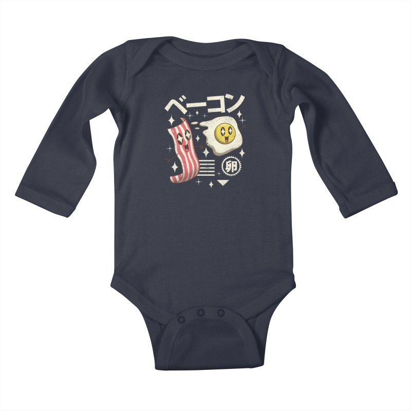 Kawaii Breakfast Kids Baby Longsleeve Bodysuit by vincenttrinidad's Artist Shop