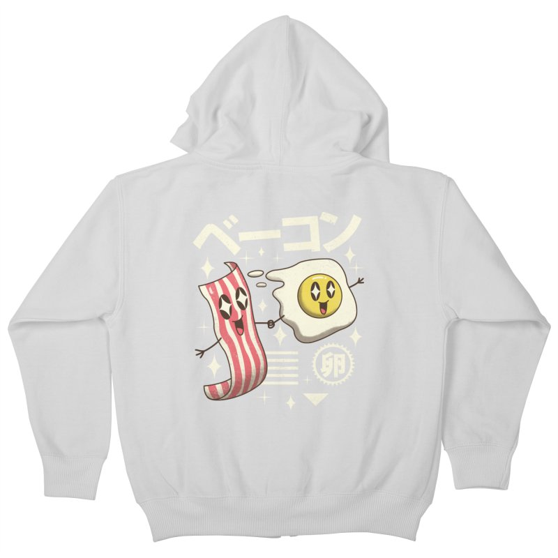 Kawaii Breakfast Kids Zip-Up Hoody by vincenttrinidad's Artist Shop