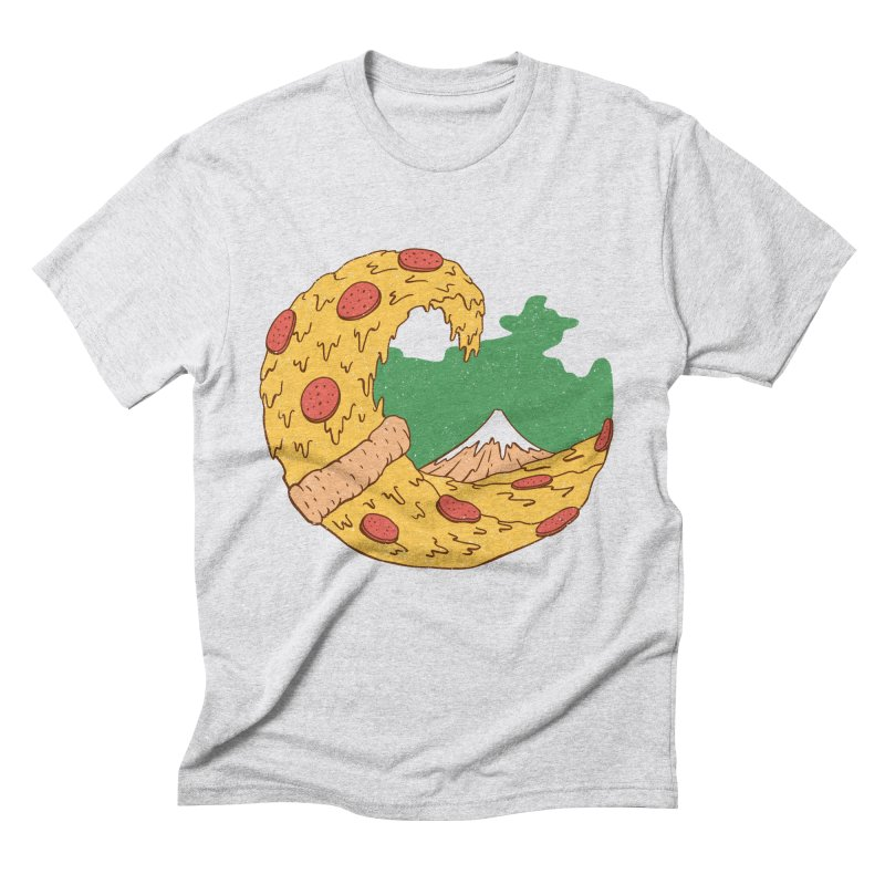 The Great Pizza of Kanagawa Men's Triblend T-Shirt by vincenttrinidad's Artist Shop