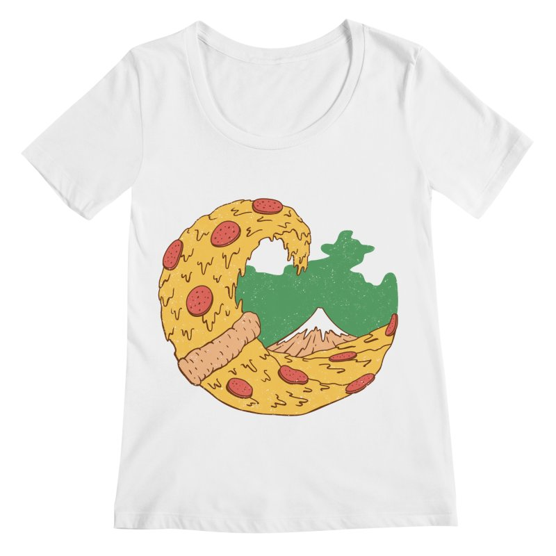 The Great Pizza of Kanagawa Women's Scoopneck by vincenttrinidad's Artist Shop