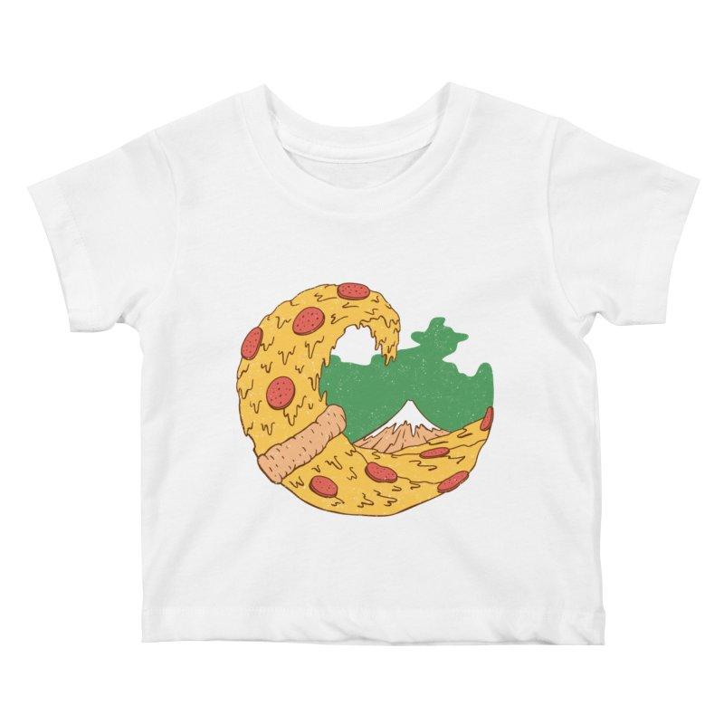 The Great Pizza of Kanagawa Kids Baby T-Shirt by vincenttrinidad's Artist Shop