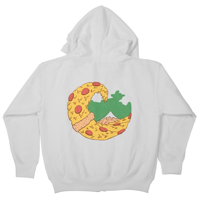 The Great Pizza of Kanagawa Kids Zip-Up Hoody by vincenttrinidad's Artist Shop