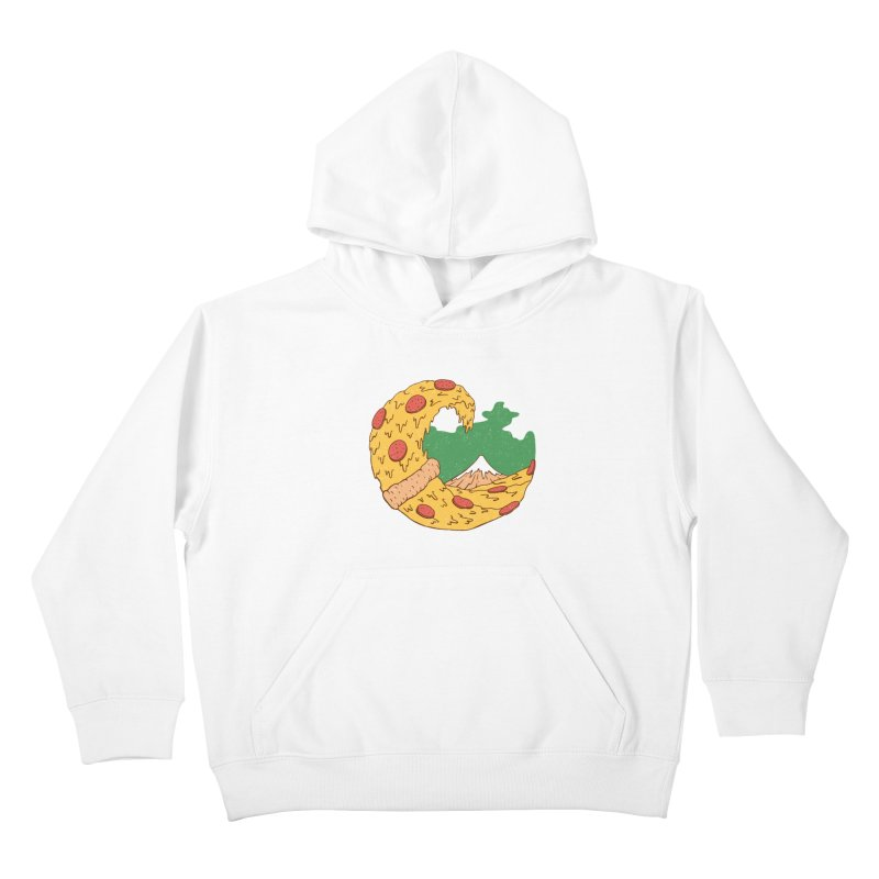 The Great Pizza of Kanagawa Kids Pullover Hoody by vincenttrinidad's Artist Shop