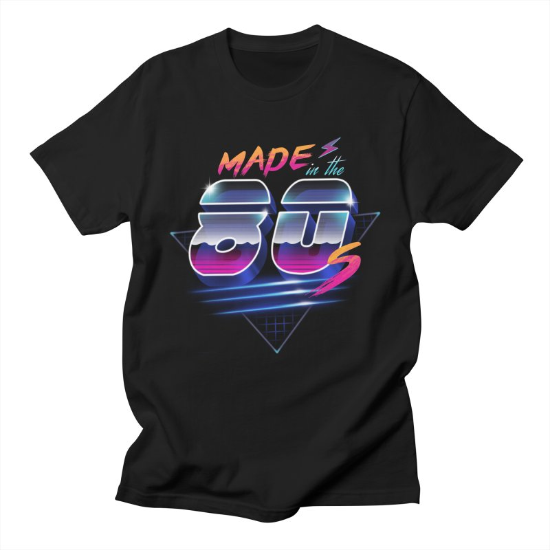 Made in the 80's in Men's T-Shirt Black by vincenttrinidad's Artist Shop