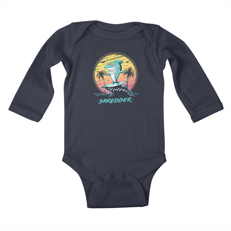 Shredder Kids Baby Longsleeve Bodysuit by vincenttrinidad's Artist Shop