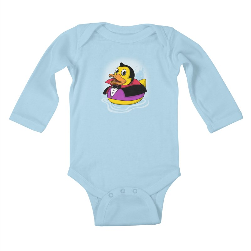 Duckula Kids Baby Longsleeve Bodysuit by vincenttrinidad's Artist Shop