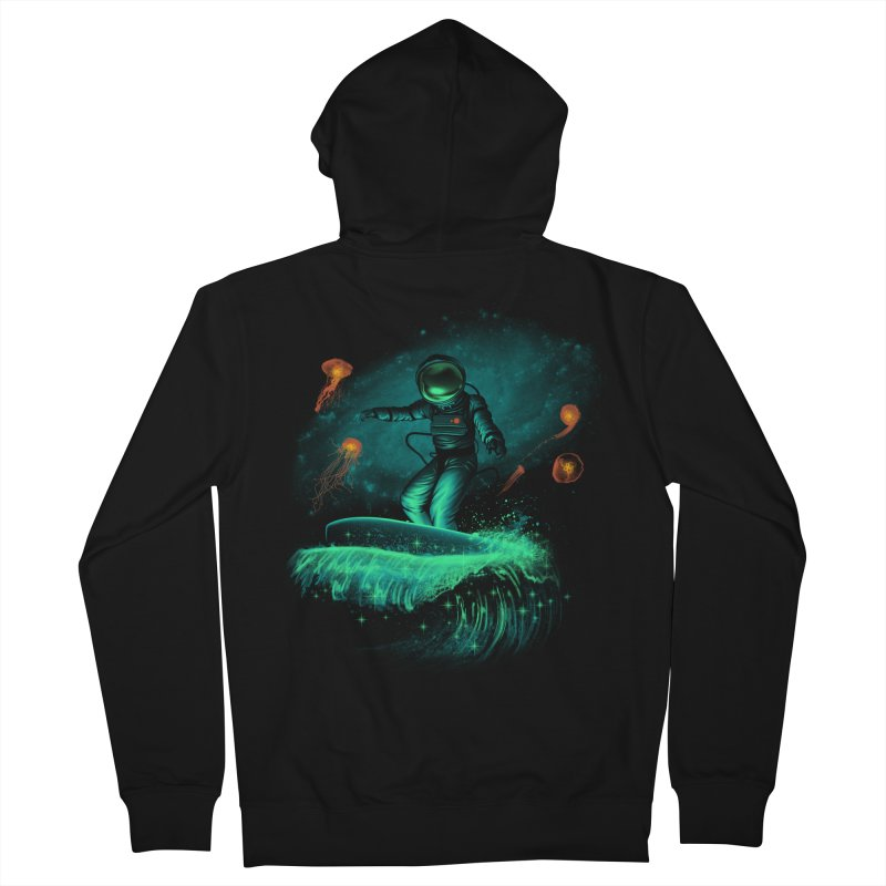 Space Surfer Women's Zip-Up Hoody by vincenttrinidad's Artist Shop