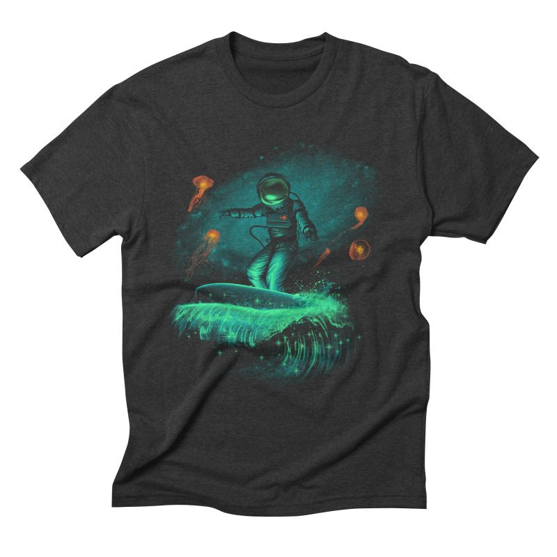 Space Surfer Men's Triblend T-Shirt by vincenttrinidad's Artist Shop