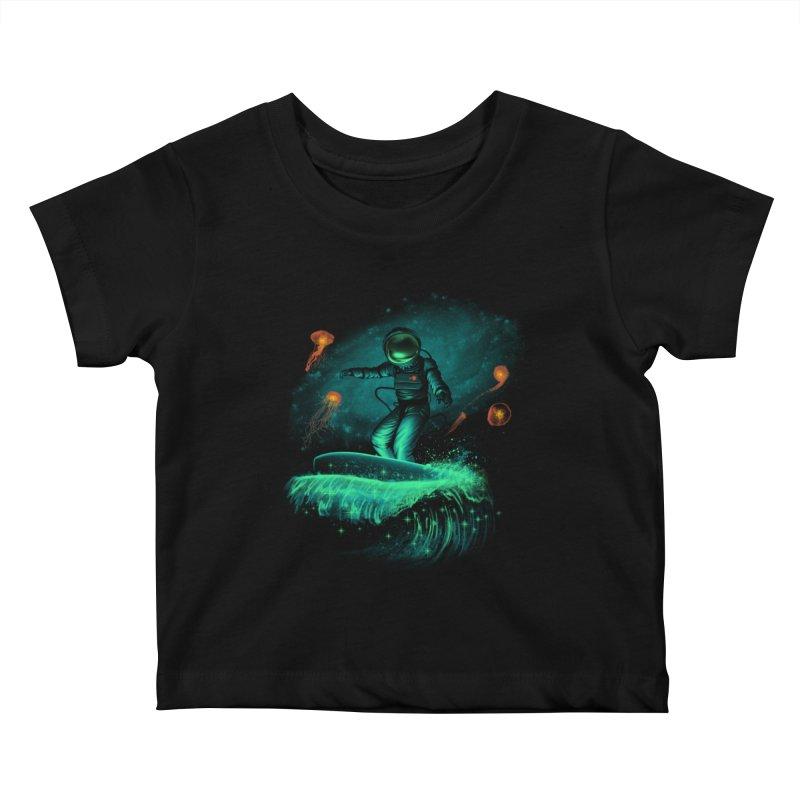 Space Surfer Kids Baby T-Shirt by vincenttrinidad's Artist Shop
