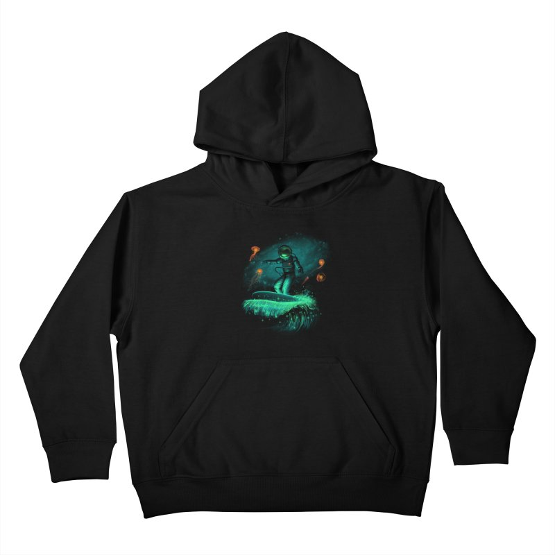 Space Surfer Kids Pullover Hoody by vincenttrinidad's Artist Shop