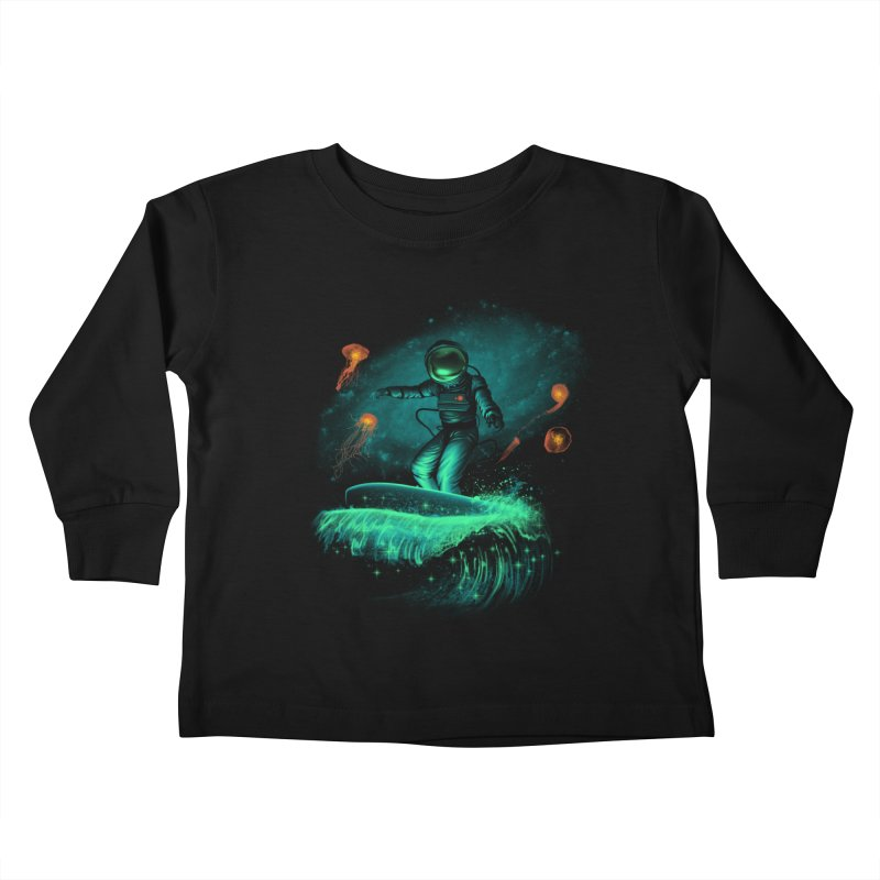 Space Surfer Kids Toddler Longsleeve T-Shirt by vincenttrinidad's Artist Shop