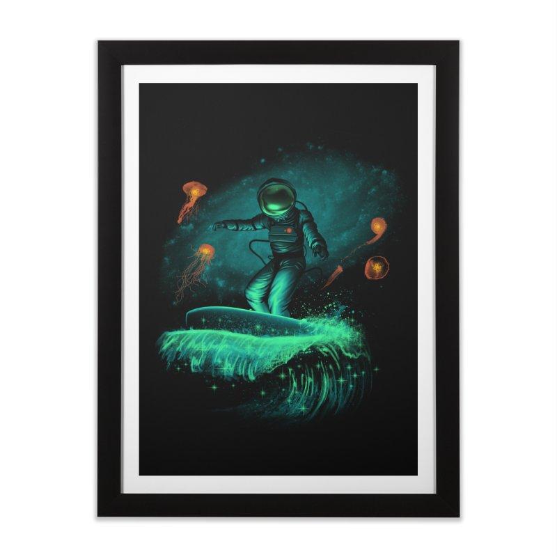 Space Surfer Home Framed Fine Art Print by vincenttrinidad's Artist Shop