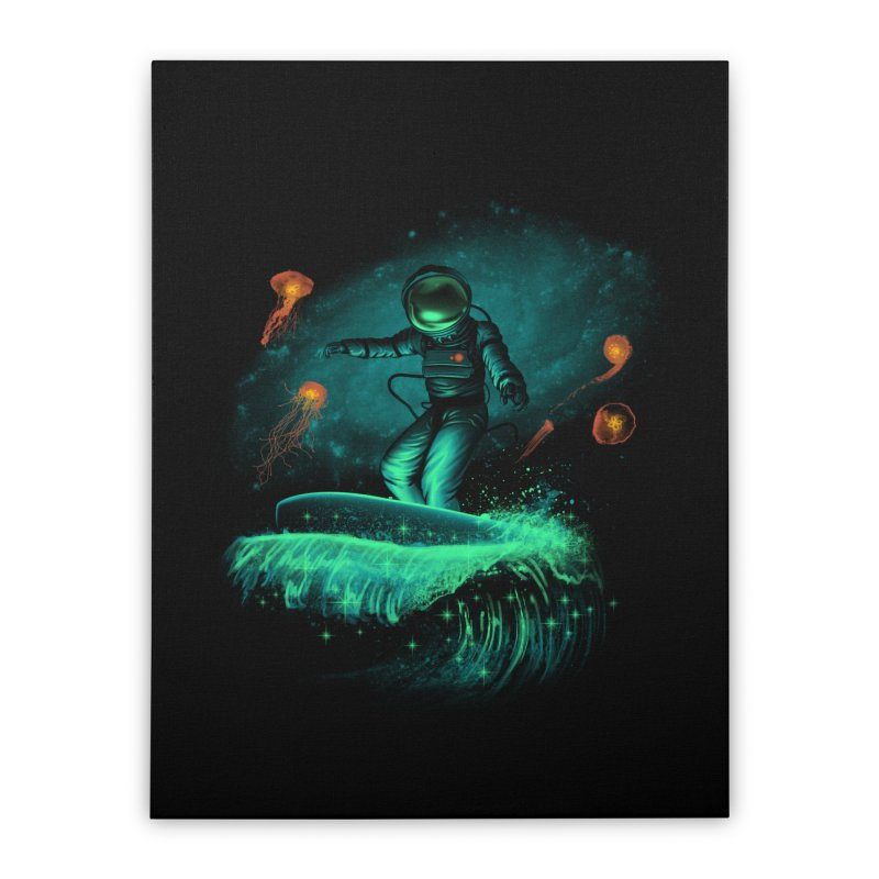 Space Surfer Home Stretched Canvas by vincenttrinidad's Artist Shop