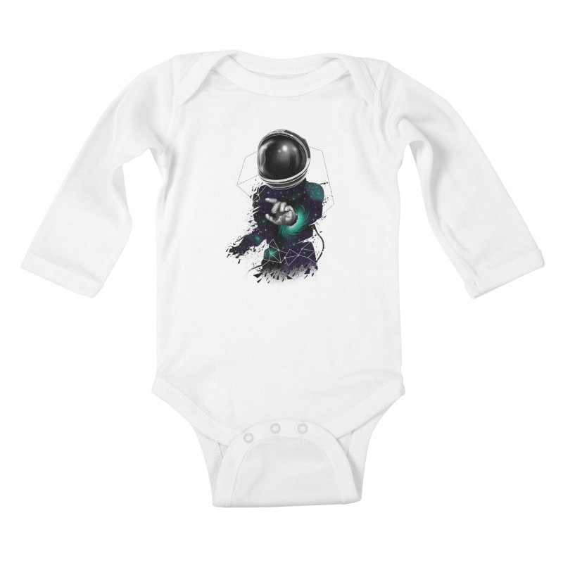 Space Warp Kids Baby Longsleeve Bodysuit by vincenttrinidad's Artist Shop