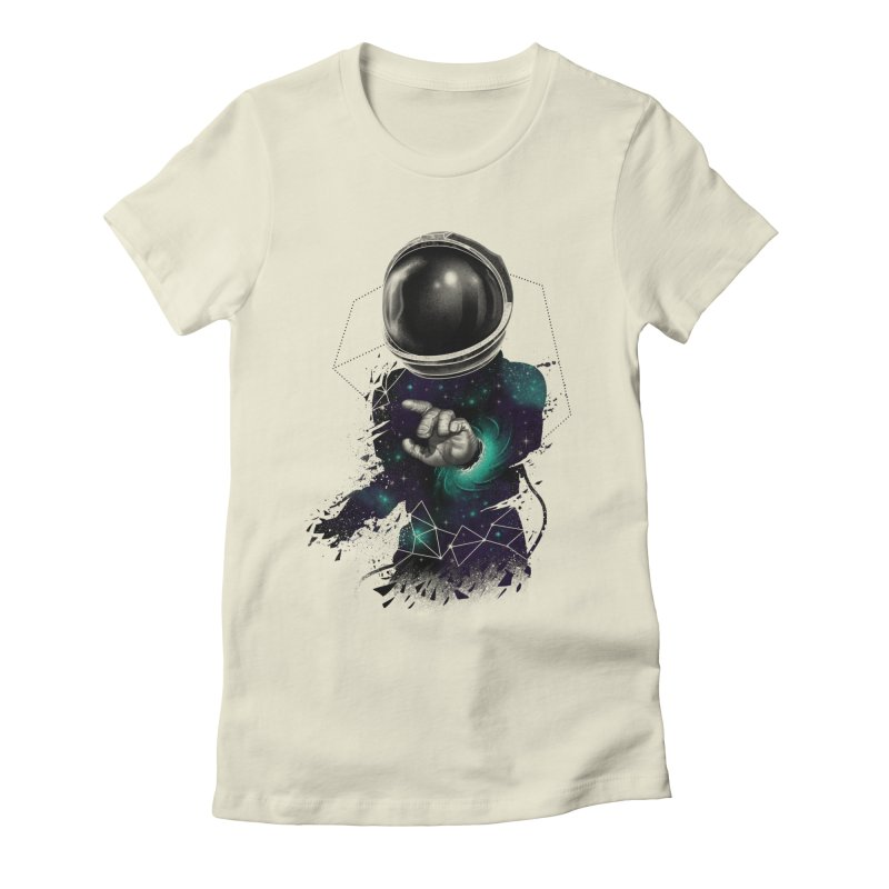 Space Warp Women's Fitted T-Shirt by vincenttrinidad's Artist Shop