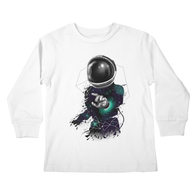 Space Warp Kids Longsleeve T-Shirt by vincenttrinidad's Artist Shop