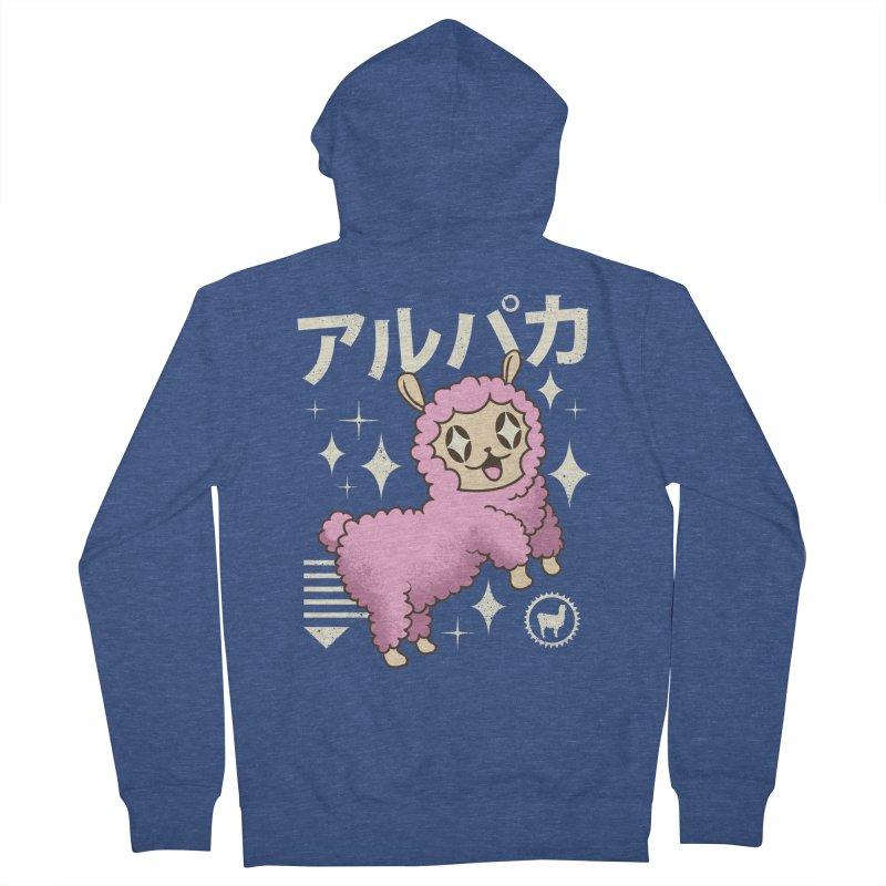 Kawaii Alpaca Men's Zip-Up Hoody by vincenttrinidad's Artist Shop