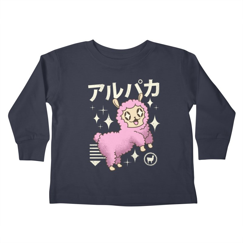 Kawaii Alpaca Kids Toddler Longsleeve T-Shirt by vincenttrinidad's Artist Shop