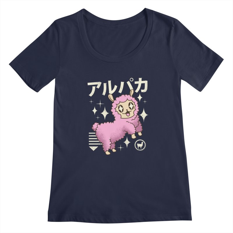 Kawaii Alpaca Women's Scoopneck by vincenttrinidad's Artist Shop