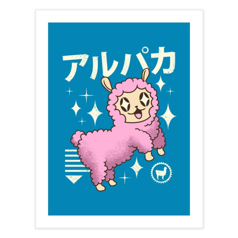 Kawaii Alpaca Home Fine Art Print by vincenttrinidad's Artist Shop