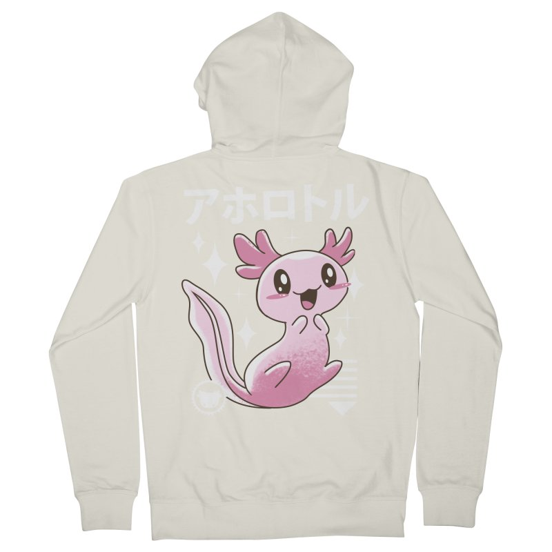 Kawaii Axolotl Women's Zip-Up Hoody by vincenttrinidad's Artist Shop