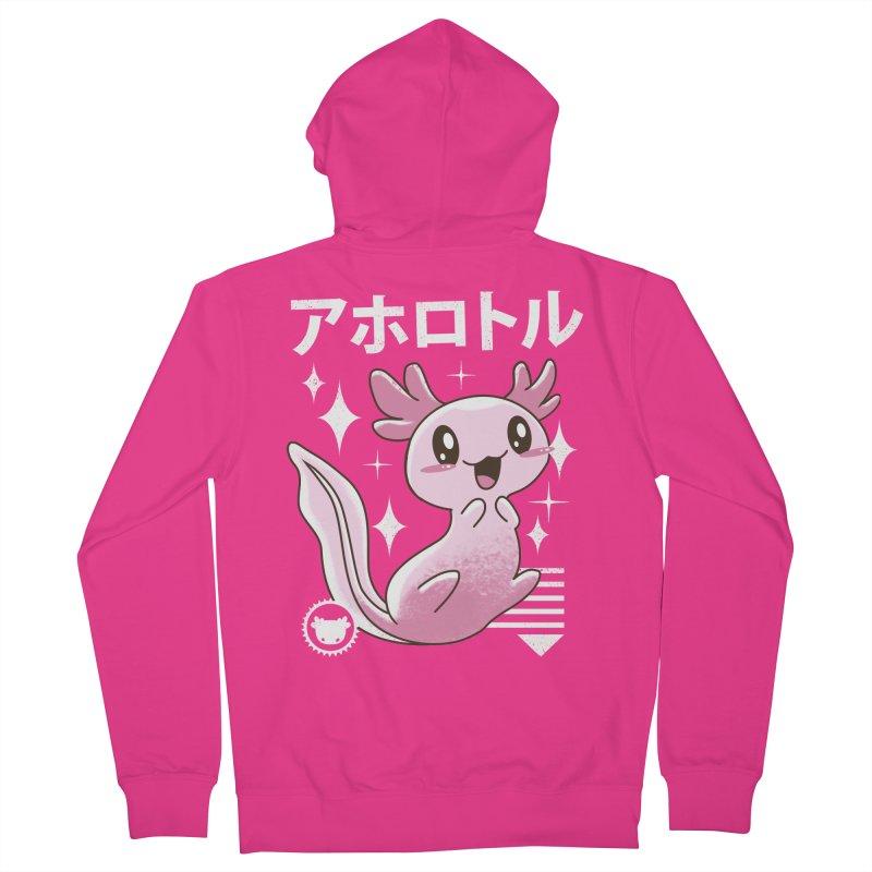 Kawaii Axolotl Men's Zip-Up Hoody by vincenttrinidad's Artist Shop