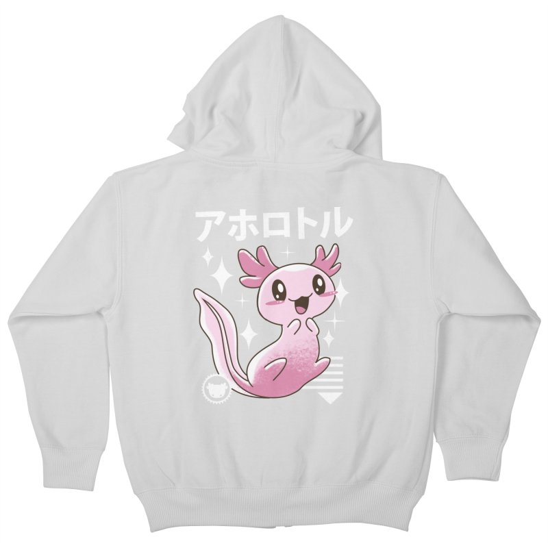Kawaii Axolotl Kids Zip-Up Hoody by vincenttrinidad's Artist Shop