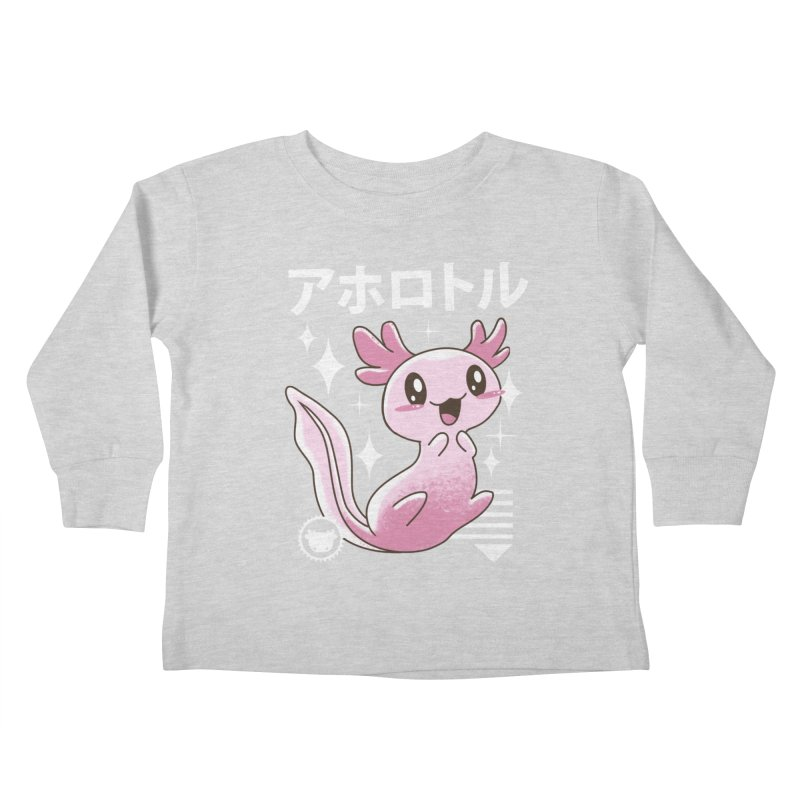Kawaii Axolotl Kids Toddler Longsleeve T-Shirt by vincenttrinidad's Artist Shop