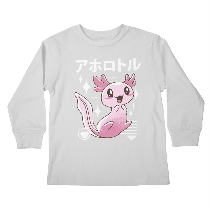 Kawaii Axolotl Kids Longsleeve T-Shirt by vincenttrinidad's Artist Shop