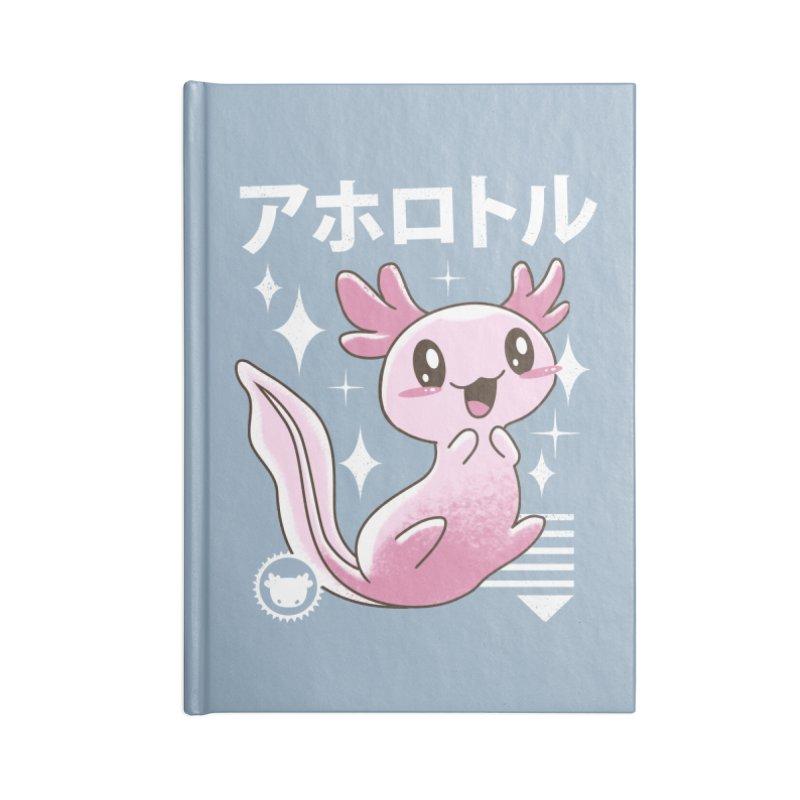 Kawaii Axolotl Accessories Notebook by vincenttrinidad's Artist Shop