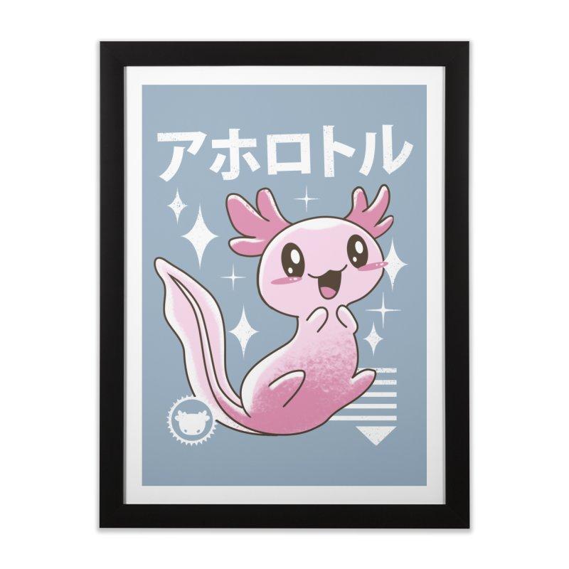 Kawaii Axolotl Home Framed Fine Art Print by vincenttrinidad's Artist Shop