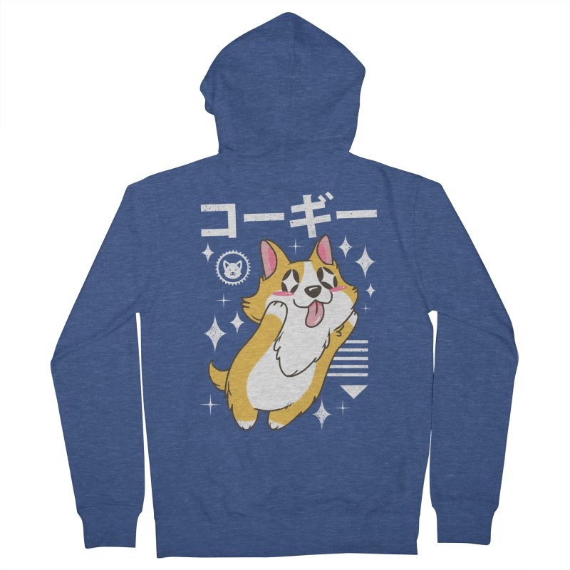 Kawaii Corgi Women's Zip-Up Hoody by vincenttrinidad's Artist Shop