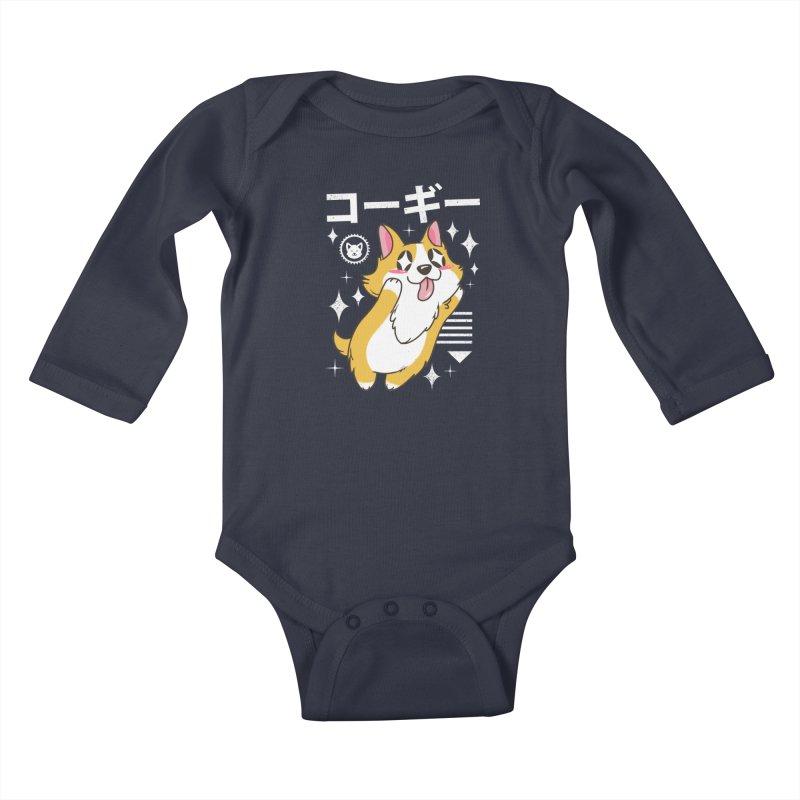 Kawaii Corgi Kids Baby Longsleeve Bodysuit by vincenttrinidad's Artist Shop