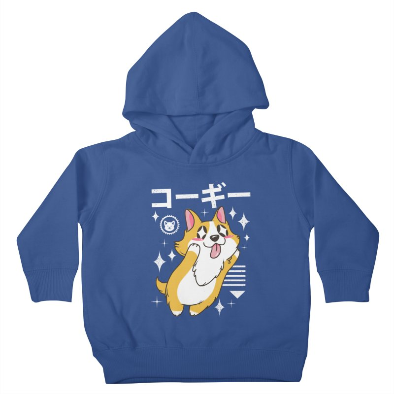 Kawaii Corgi Kids Toddler Pullover Hoody by vincenttrinidad's Artist Shop