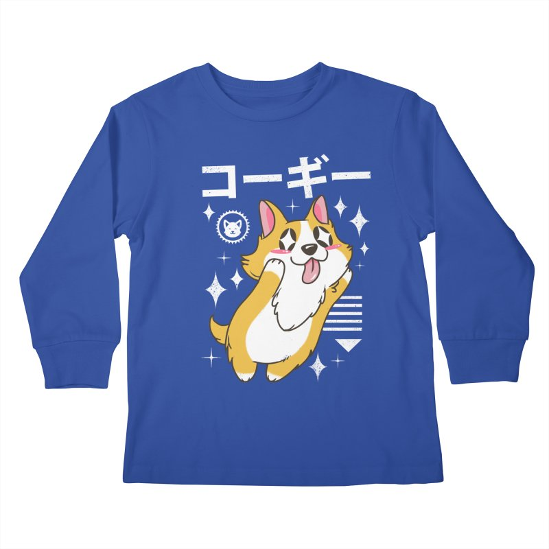 Kawaii Corgi Kids Longsleeve T-Shirt by vincenttrinidad's Artist Shop