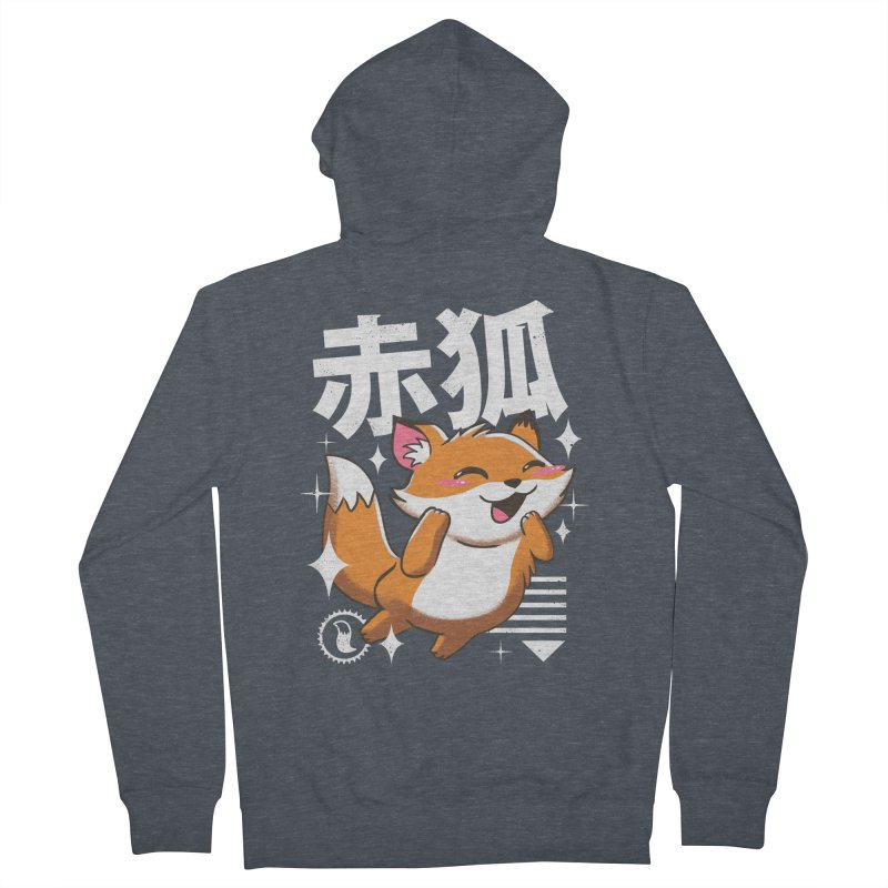 Kawaii Fox Women's Zip-Up Hoody by vincenttrinidad's Artist Shop