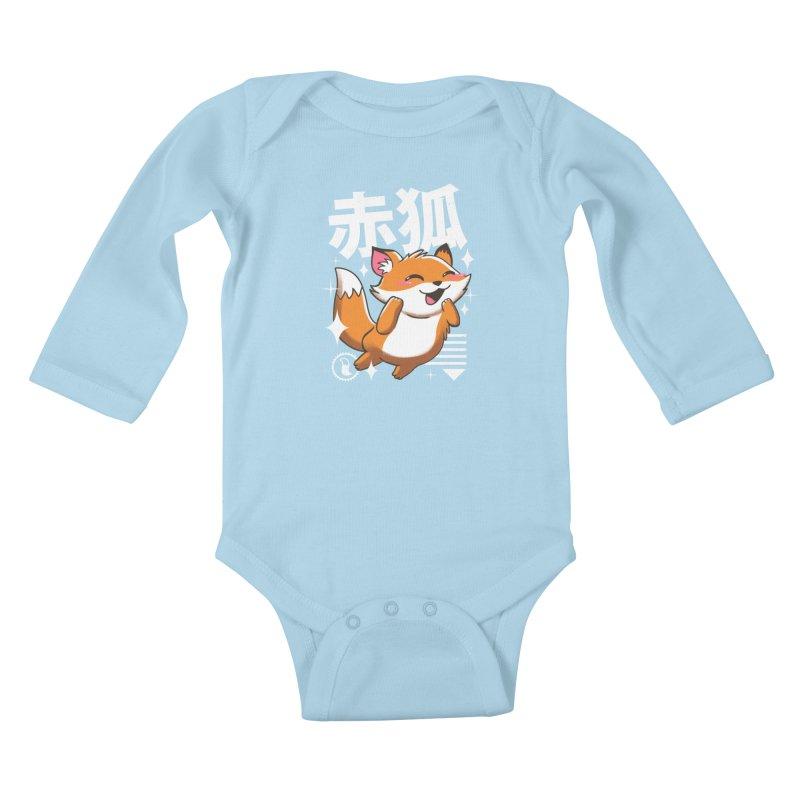 Kawaii Fox Kids Baby Longsleeve Bodysuit by vincenttrinidad's Artist Shop