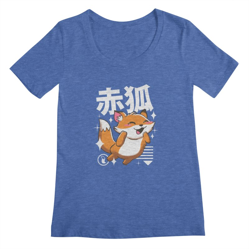 Kawaii Fox Women's Scoopneck by vincenttrinidad's Artist Shop