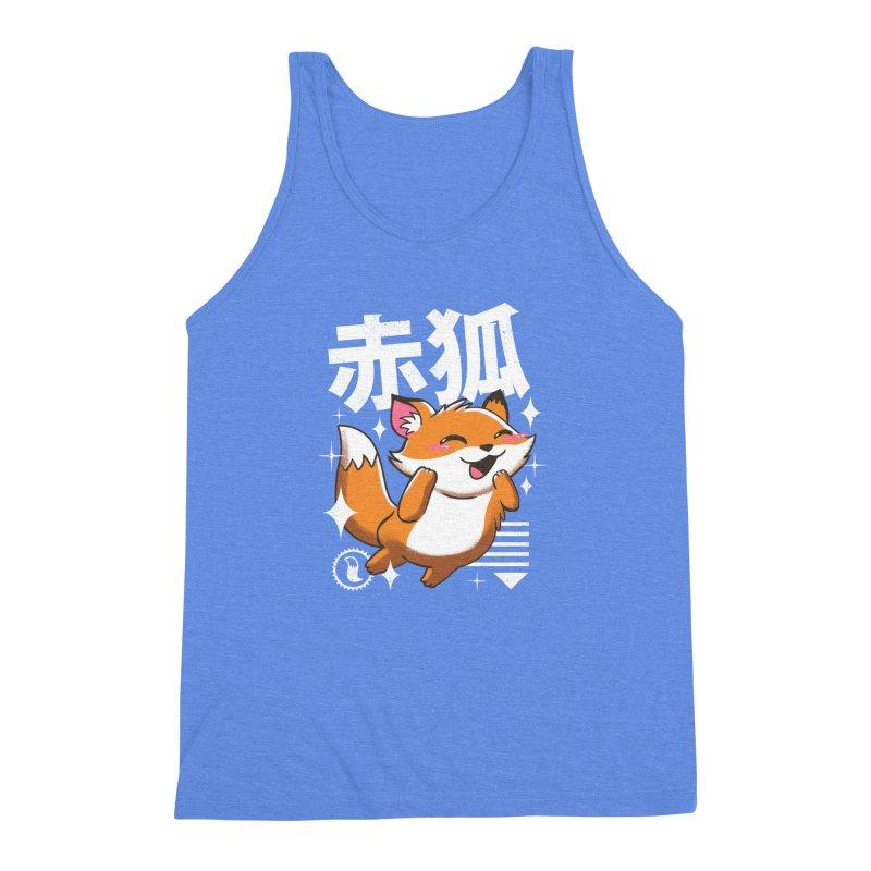 Kawaii Fox Men's Triblend Tank by vincenttrinidad's Artist Shop