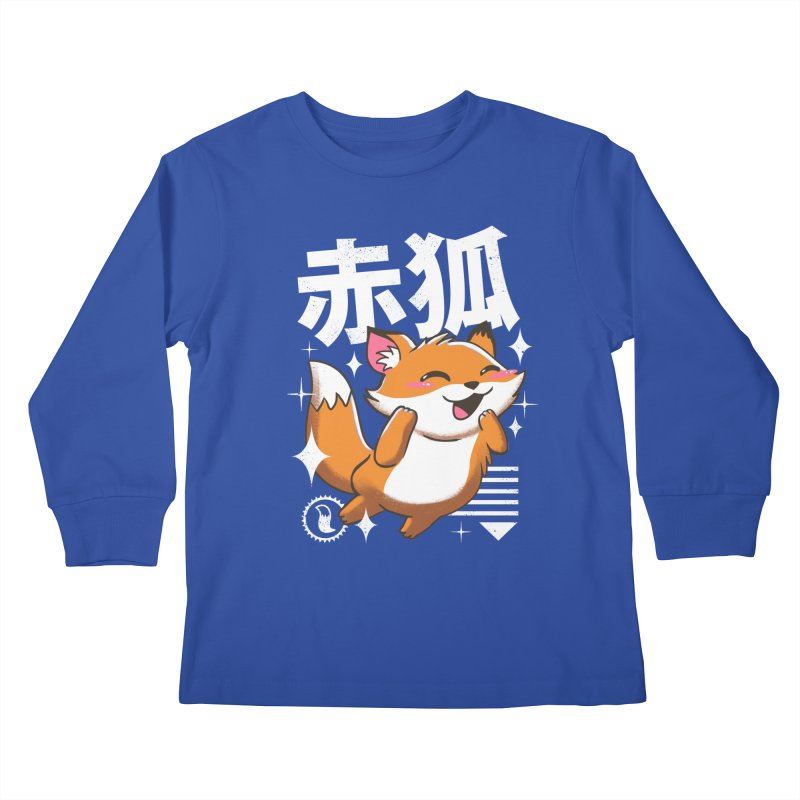 Kawaii Fox Kids Longsleeve T-Shirt by vincenttrinidad's Artist Shop