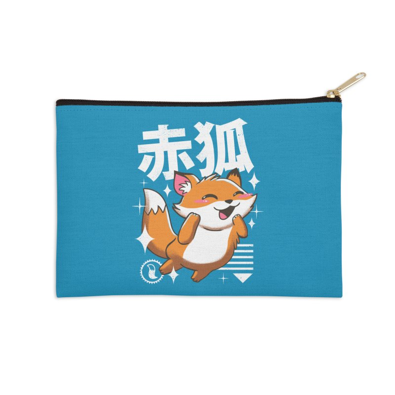 Kawaii Fox Accessories Zip Pouch by vincenttrinidad's Artist Shop